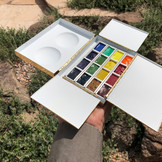 Studio Paintbox with pans filled