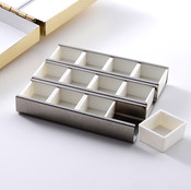 stainless tray with 12 half pans