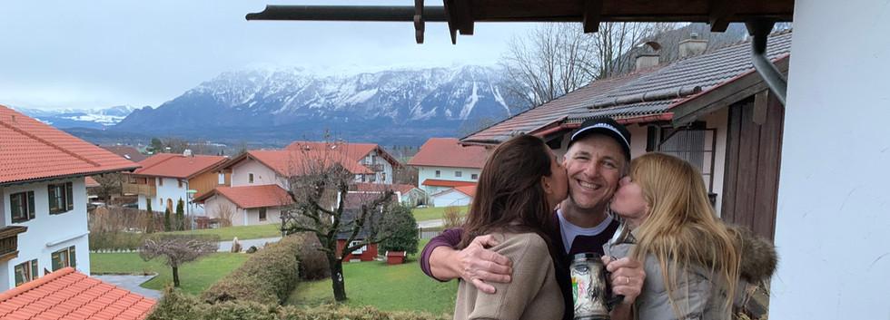 Erin, Shannon and Klaus enjoying a Gosser!