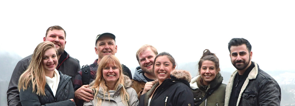 The whole family in Austria with all of our significant others.