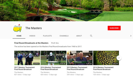 Every Masters Final Round Since 1968