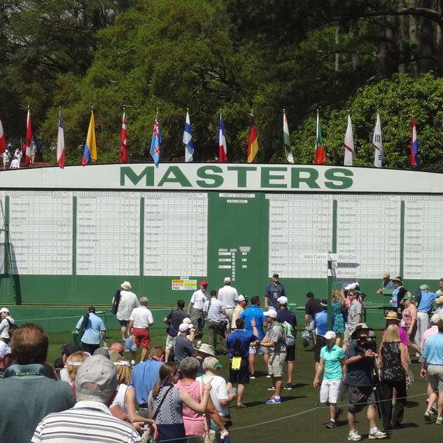 Masters Scoreboard at 1st tee
