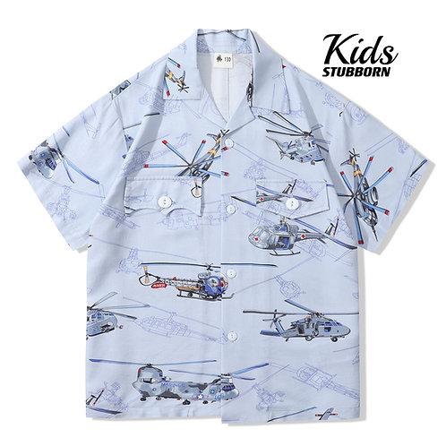 Kid'S Souvenir Shirt 2.0 - Helicopter Blue