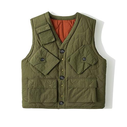PC1 Vest 2.0 - Olive + Dirty Orange
