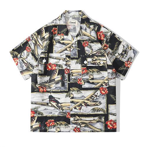 Souvenir Shirt - Tropical Black