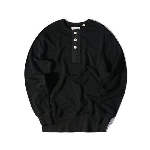 Rescue Henry Neck Sweater - Black