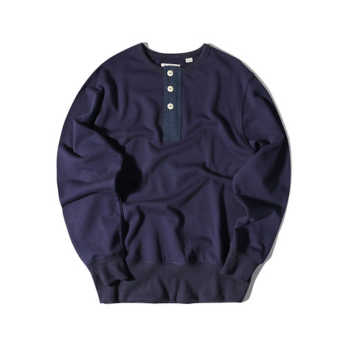 Rescue Henry Neck Sweater - Navy