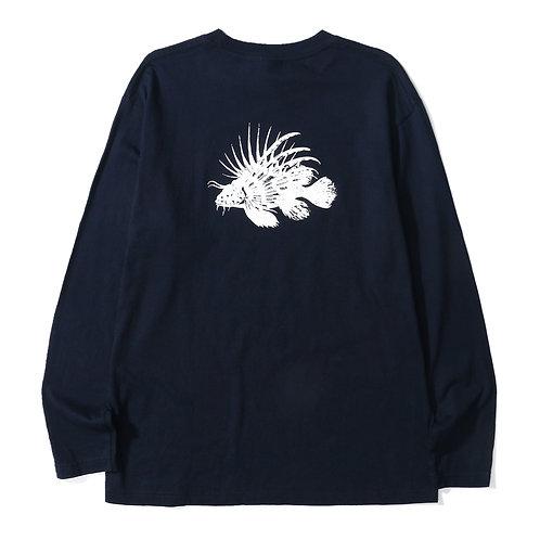 Lion Fish Tee LS - Navy