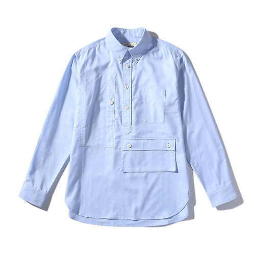 Traveler Button Down Oxford Shirt - Blue