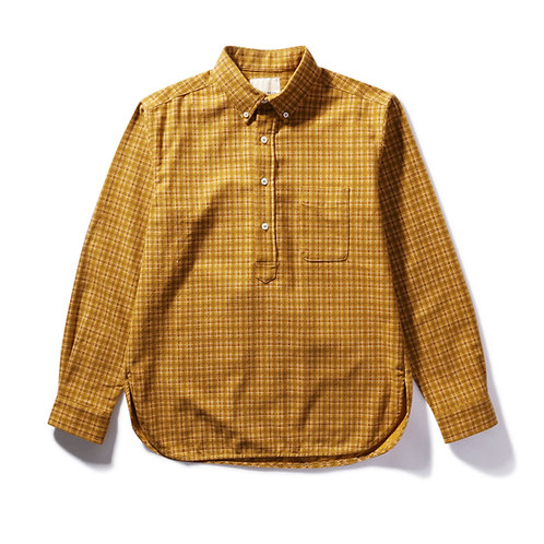 Japanese Flannel Pullover BD Shirt - Yellow