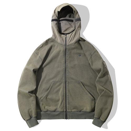 Survivor Zip-up Hoodie - Army Green