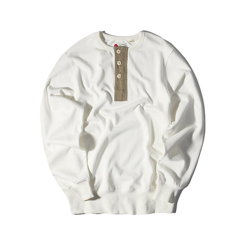 Rescue Henry Neck Sweater - White