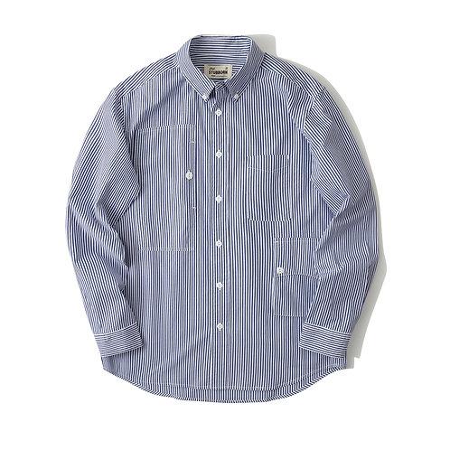 Traveler Shirt 2.0 - Navy Stripy