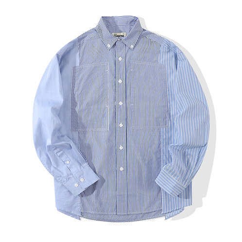 Old Man Fatigue Shirt - Blue Stripy