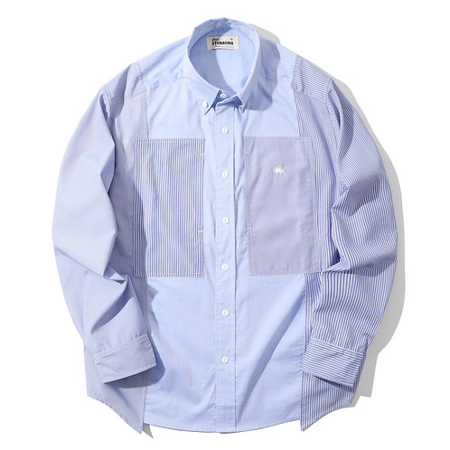 Old Man Fatigue Shirt - Officer Blue