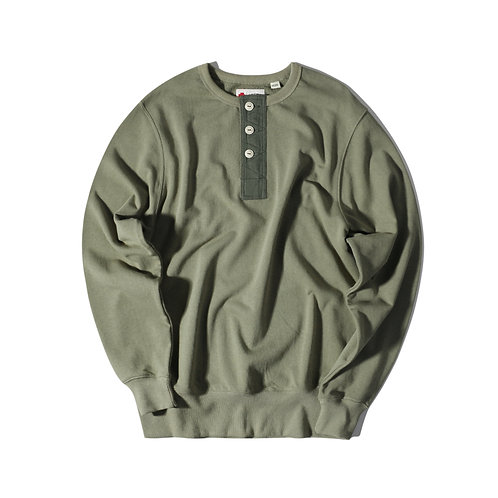 Rescue Henry Neck Sweater - Green
