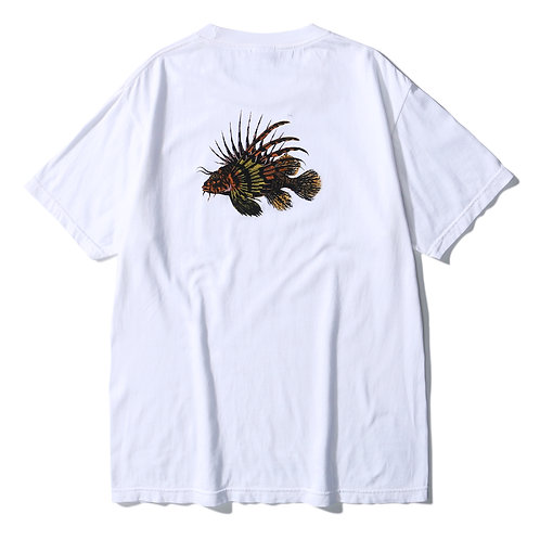 Lion Fish PrintStar Tee SS - White