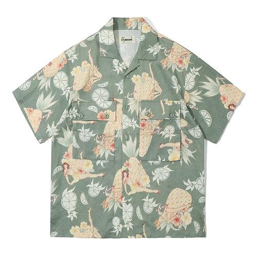 Cocktail Hawaii Shirt - Alpha Green