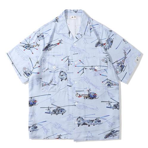Souvenir Shirt 2.0 - Helicopter Blue