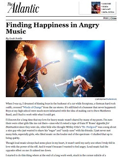 Finding Happiness in Angry Music