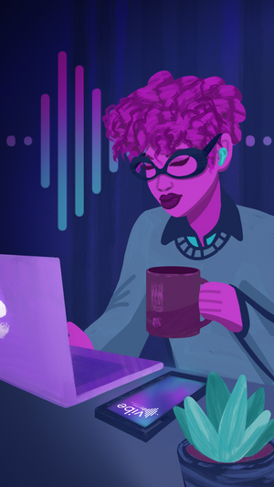 Vibe App Launch illustration by Justice Walz