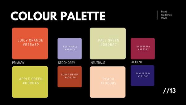Color Palette designed by Justice Walz