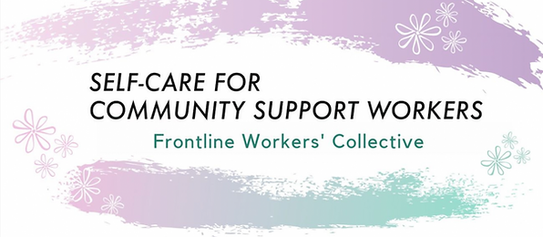 Frontline Workers Collective banner designed by Justice Walz