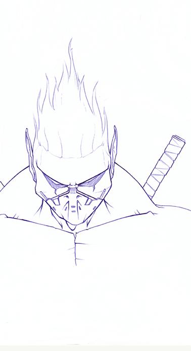 Pen Sketch Last Ninja