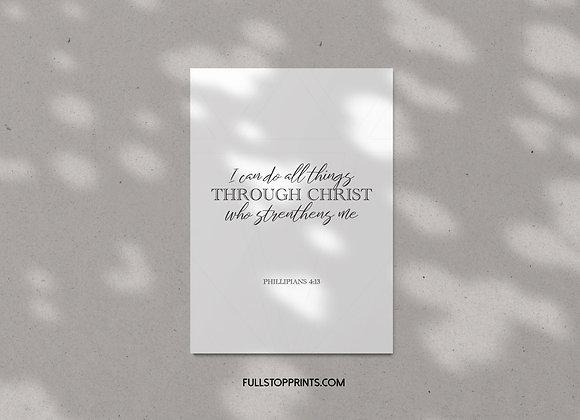All things through Christ!