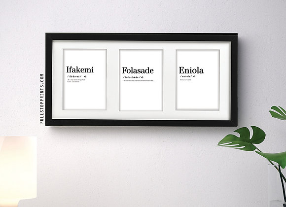 Pronounce it! framed mini set x3