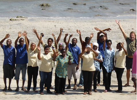 Staff at Mkoma Bay Tented Lodge. Beautiful beach front accomodation in Pangani,Tanzania