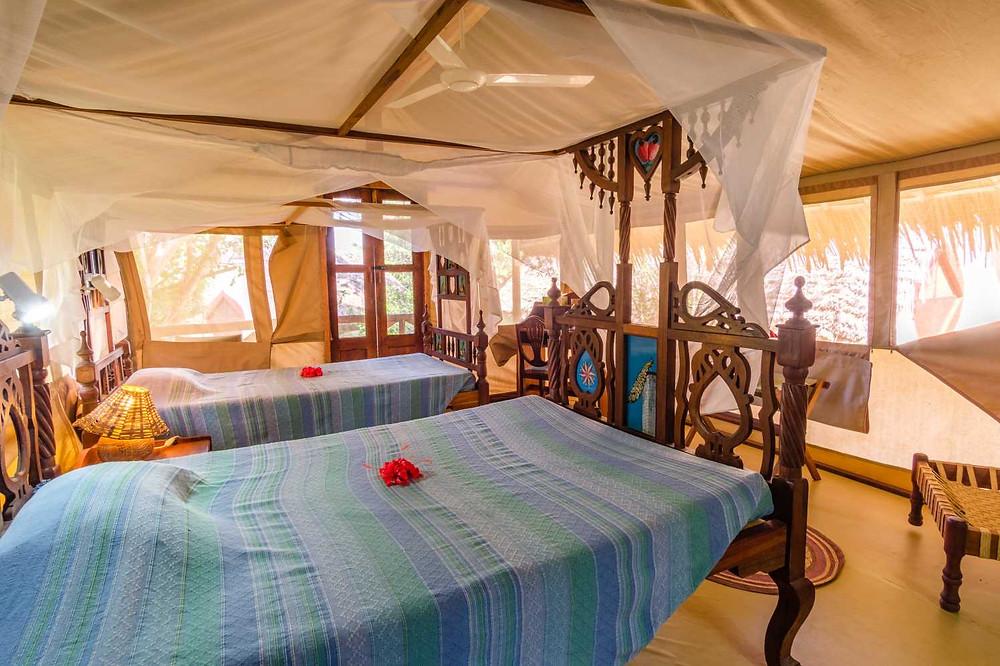 Visit Tanga from beautiful accommodation: Mkoma Bay Tented lodge in Tanzania