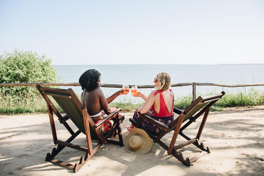 Relaxing at Mkoma Bay Tented lodge hotel near Pangani. Your guide to Tanzania