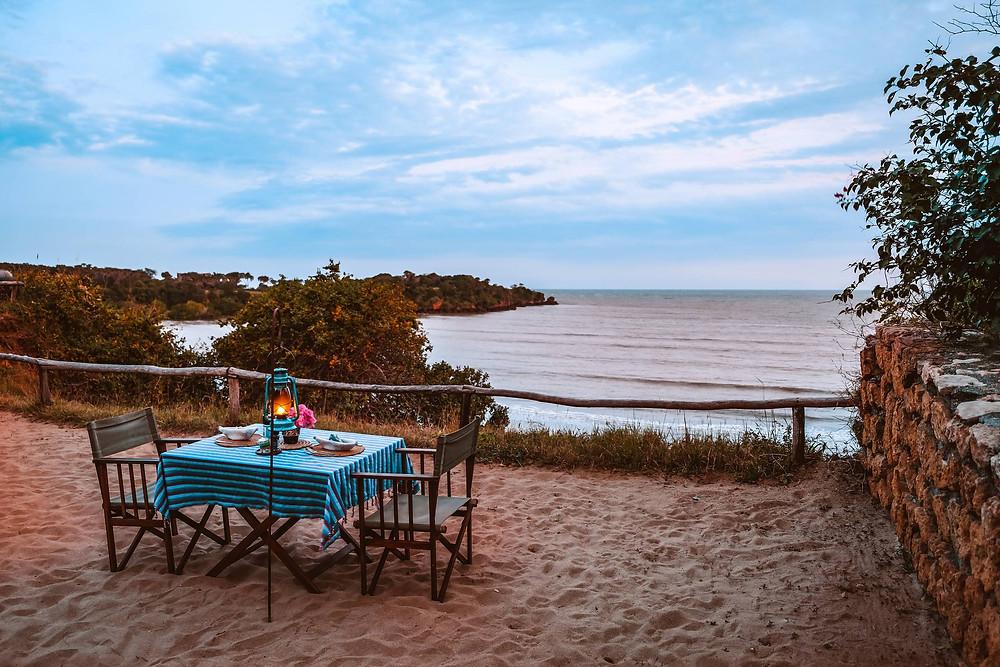 Mkoma bay beach front tented lodge near Pangani, Tanzania