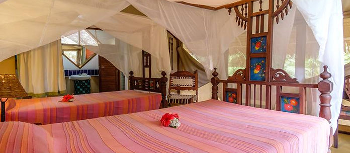 Beautiful rooms at Mkoma Bay Tented lodge in Tanzania
