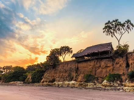 Beautiful Mkoma bay tented lodge near Pangani, Tanzania