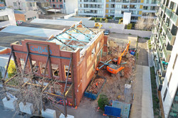 Commercial Demolition of Brick Building