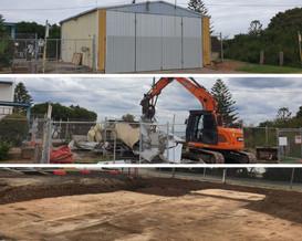 Demolition progress stages
