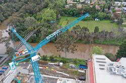 Crane Moving Skip Bin
