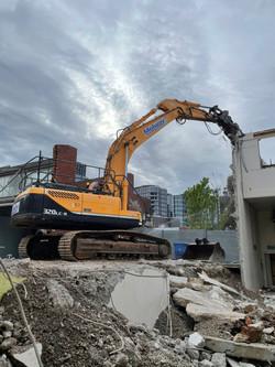 Demolishing Concrete Building