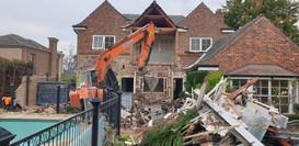 Two Storey Brick House Demolition