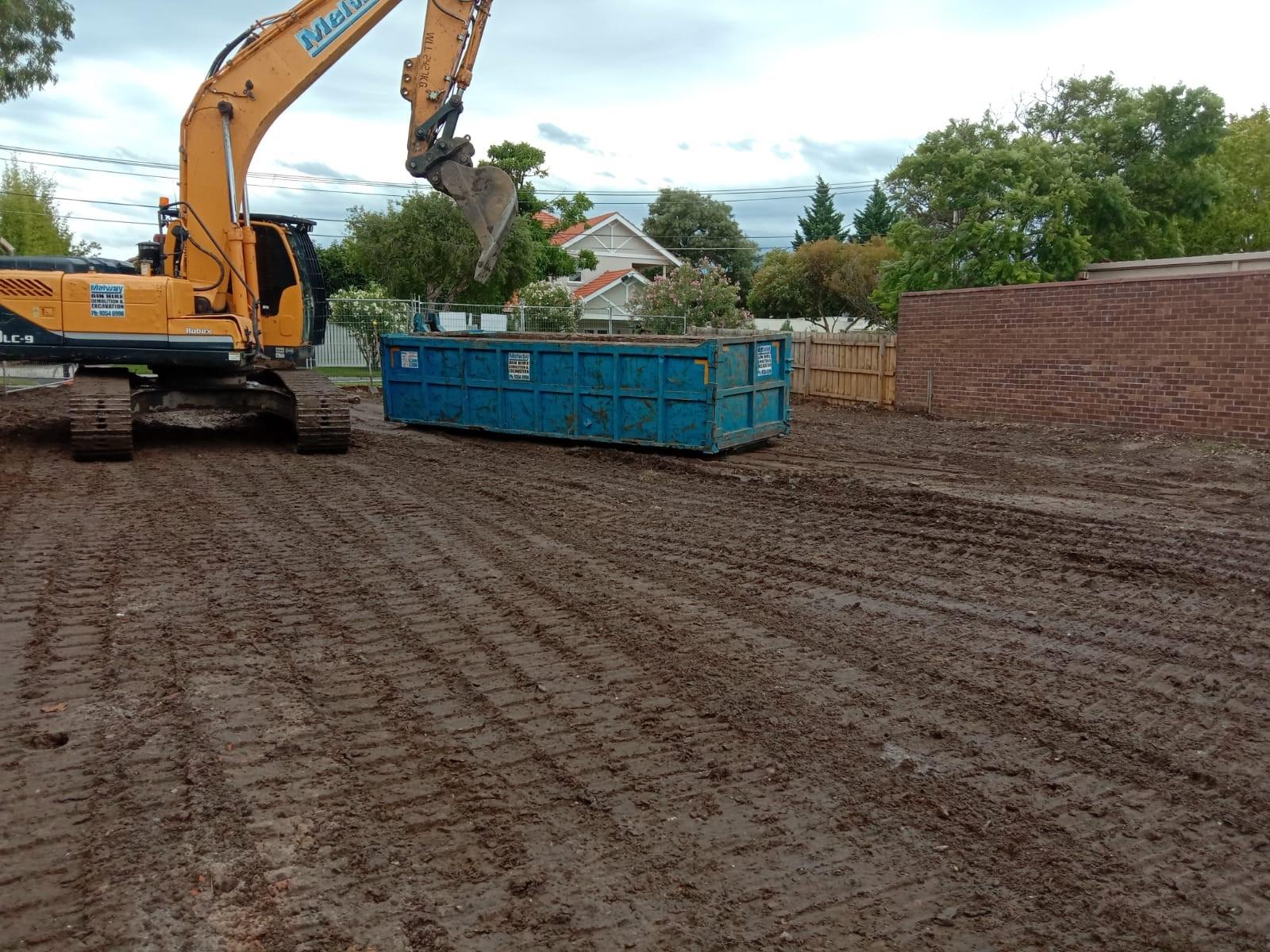 Completed demolition wet weather