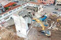 Melway Excavator Demolition Progress Top View