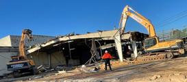 Demolition supervisor overseeing demolition works in Melbourne