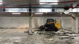 Underground carpark demolition