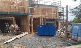 6m3 bin on construction site