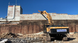 Demolition of a brick wall in Melbourne