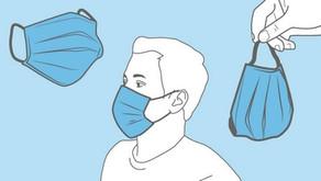 Máscaras faciais: orientações de uso não profissional