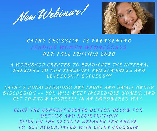 New Event Cathy Crosslin Leading Women W