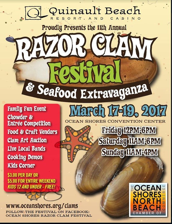 Razor Clam Festival Poster w admission p